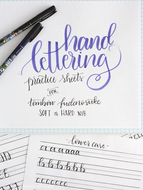 Free Printable Hand Lettering Practice Sheets Liz On Call Hand Lettering Tutorial Hand Lettering Practice Sheets Hand Lettering Worksheet