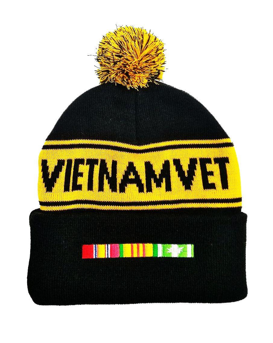 1c4e579e2cc Vietnam Vet Knit cap with Pom