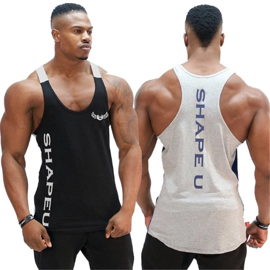 Men Bodybuilding Tank Top Gyms Fitness Sleeveless Shirt New Male Cotto Geekbuyig Gym Tank Tops Men Mens Workout Clothes Gym Tank Tops