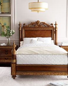 On my wishlist at Horchow Bellissimo Bed Highly ornate and