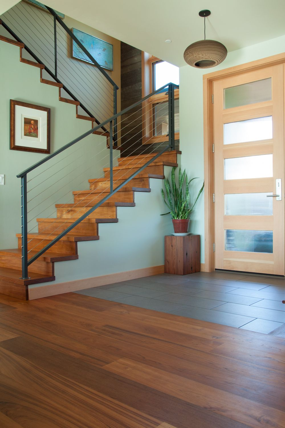 Best Contemporary Entry Foyer With Exposed Reclaimed Teak Wood 640 x 480