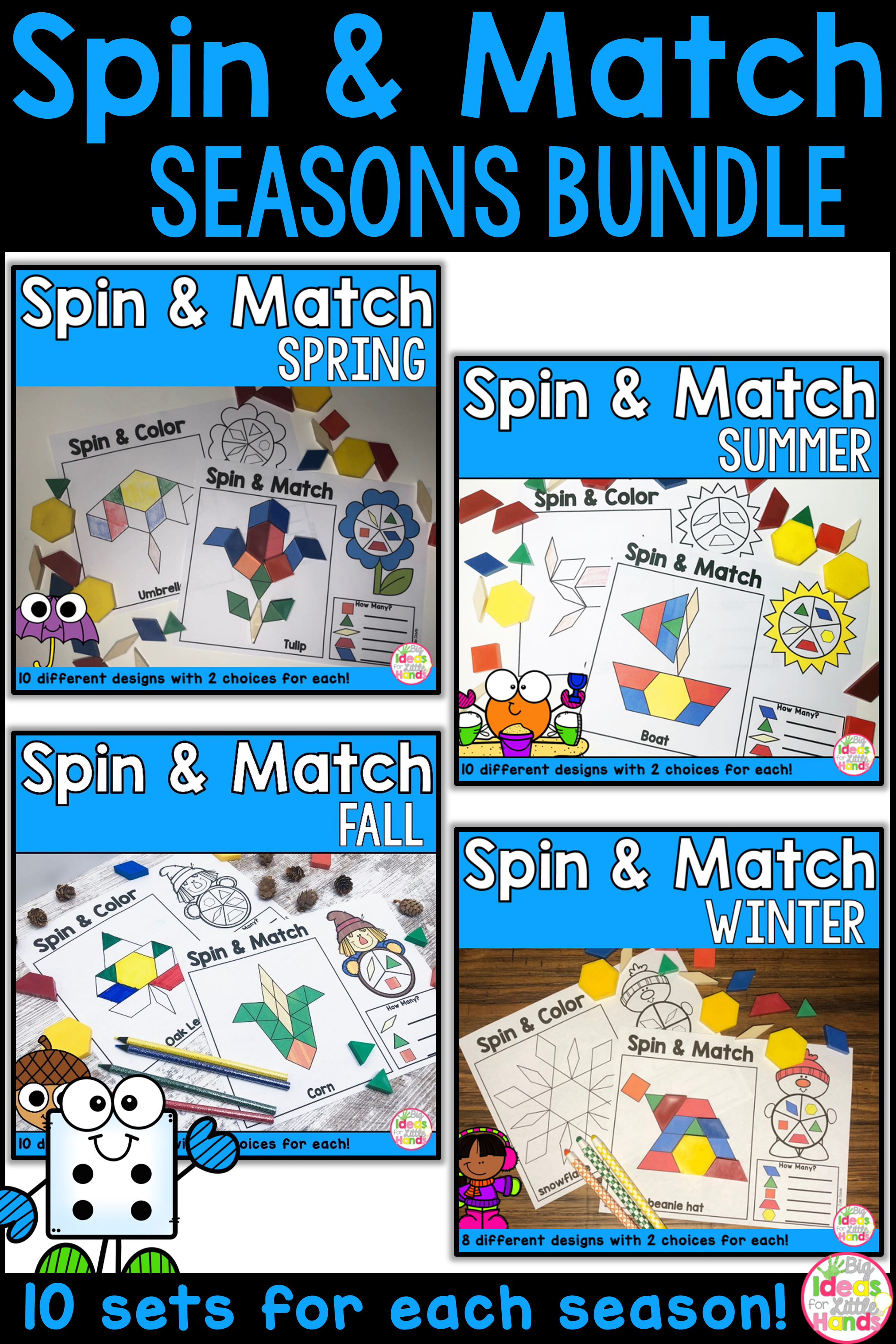 Pattern Blocks Season Bundle Kindergarten Activities Preschool Activities The Fun Factory [ 3600 x 2400 Pixel ]