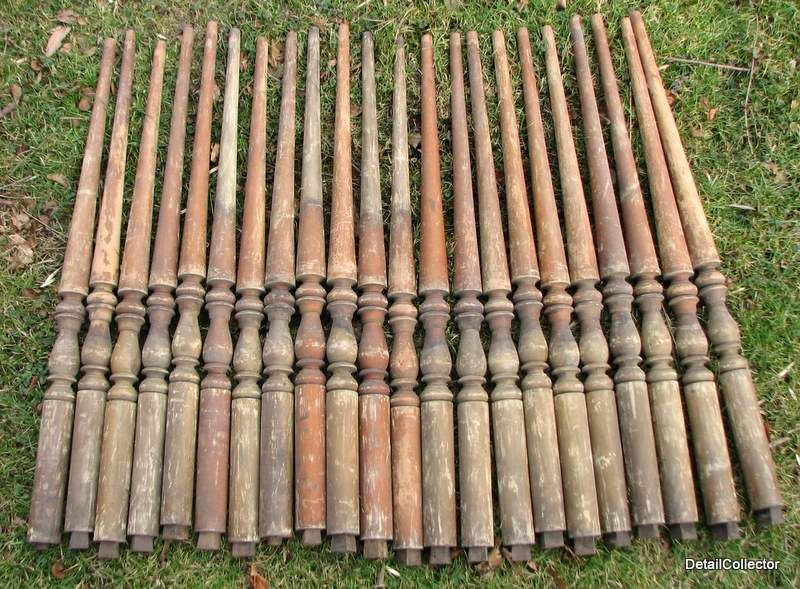 Best Victorian Staircase Parts Baluster Antique Lot Hard 640 x 480