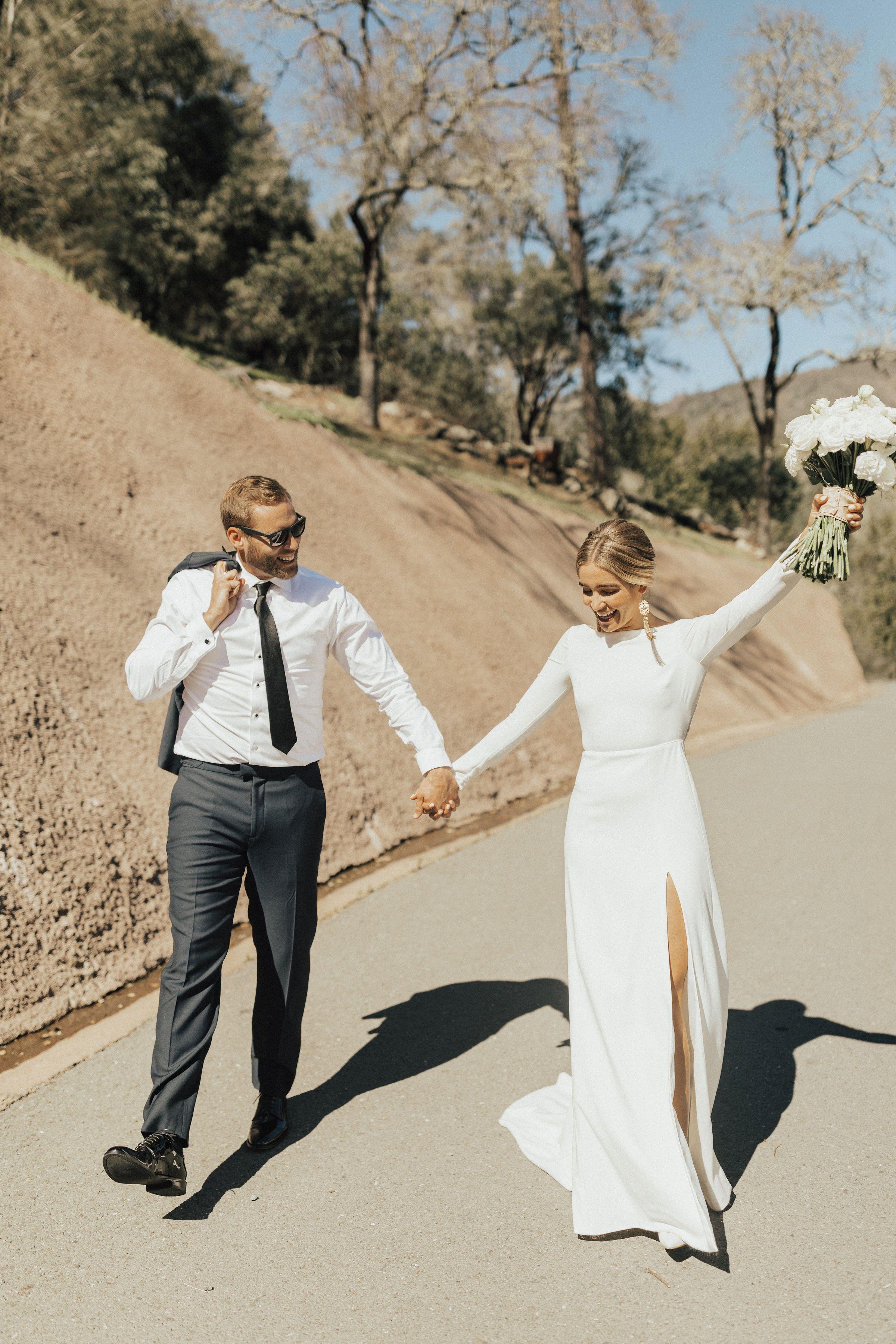 Amy Kuschel Redding Gown In 2020 Minimalist Wedding Dresses