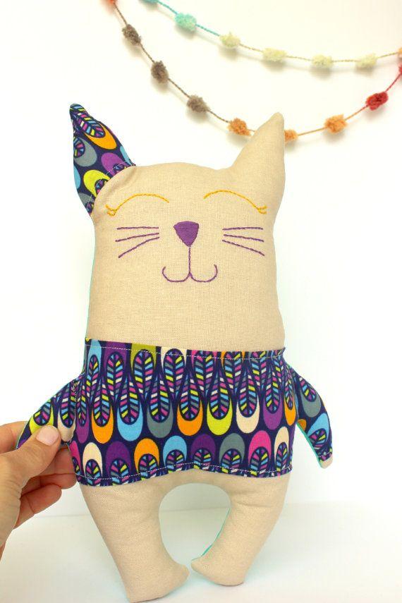 Kuschelige Plüsch-Kitty weich gefüllte von HeyTherePricklyPear