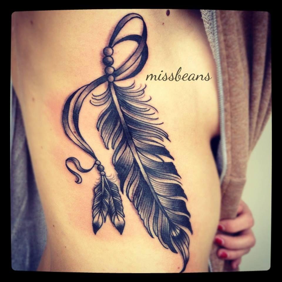 Tatouage,plume,côtes,femme,Tattoo,Moi,Tm6g1358 (