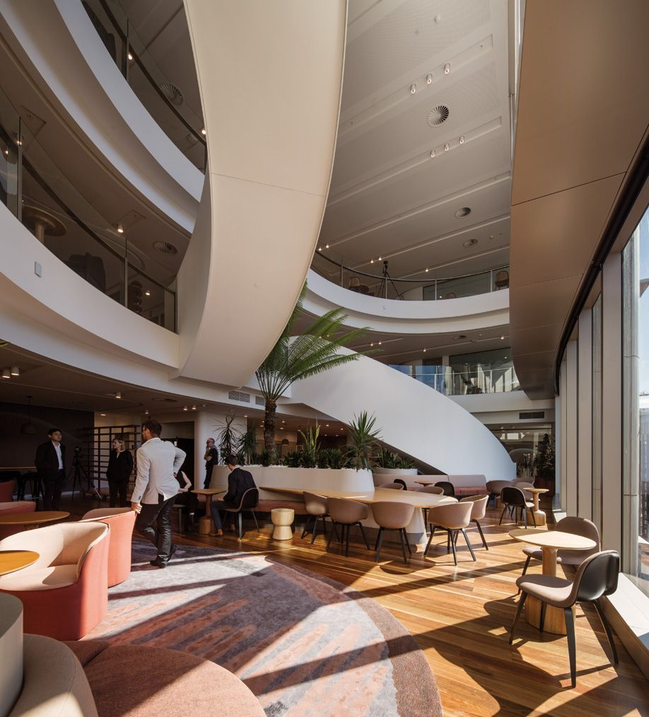 Woods Bagot Designs A Village Inspired Office For Brisbane Government Workers Azuremagazine Com Williams Street Design Public Architecture