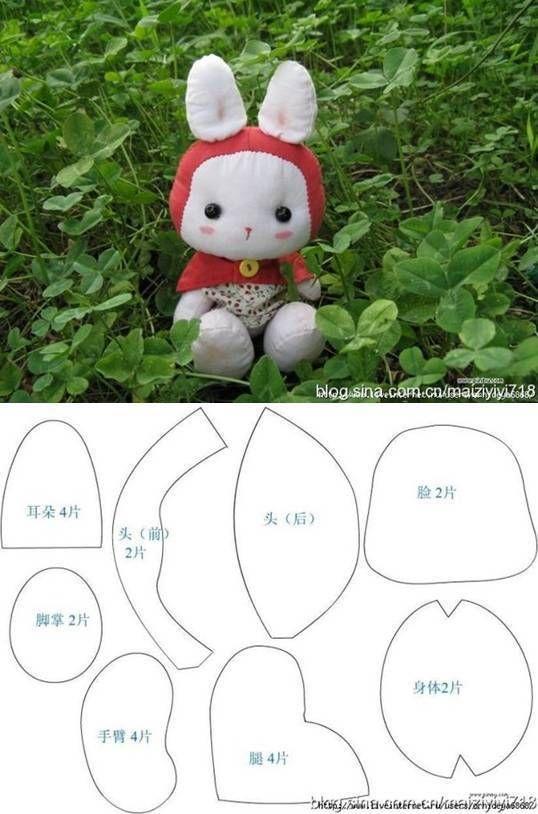 DIY Cute Little Fabric Rabbit   Cosas para hacer   Pinterest ...