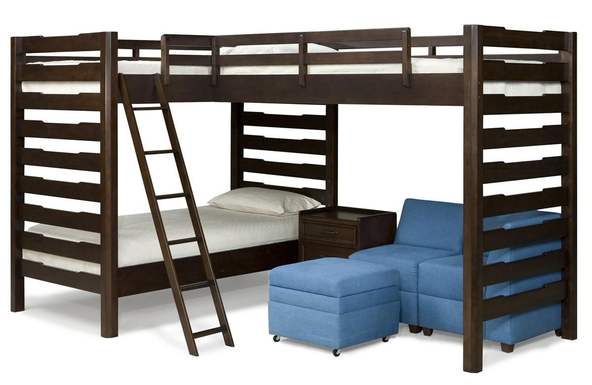 Loft bed with slide screws   Cool Triple Twin Bunk Beds For Kids picture Idea  Davis Lake
