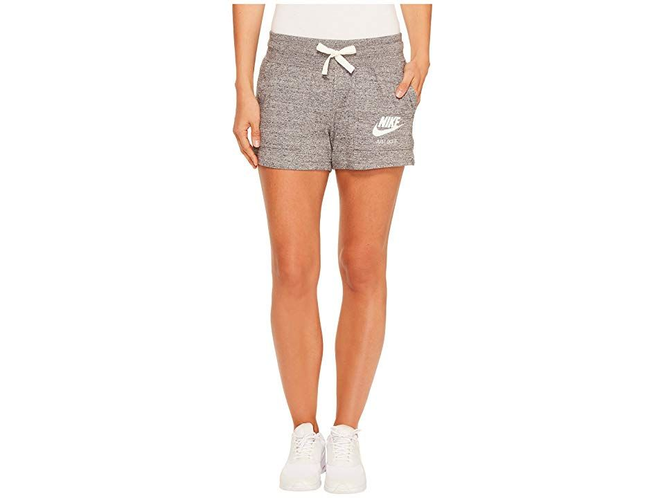 Nike Sportswear Gym Vintage Short Carbon HeatherSail Womens Shorts Old school gym flow with new school gym style Regular fit is eased but not sloppy and perfect for any a...
