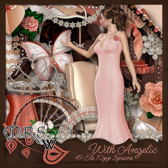 Scrap Kit  With Angelic by MrsWMouseClicks on Etsy, $1.99