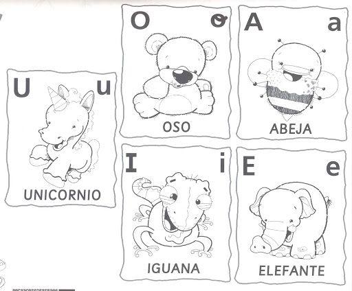Colorear Vocales A E I O U Letras Materiales Para Preescolar