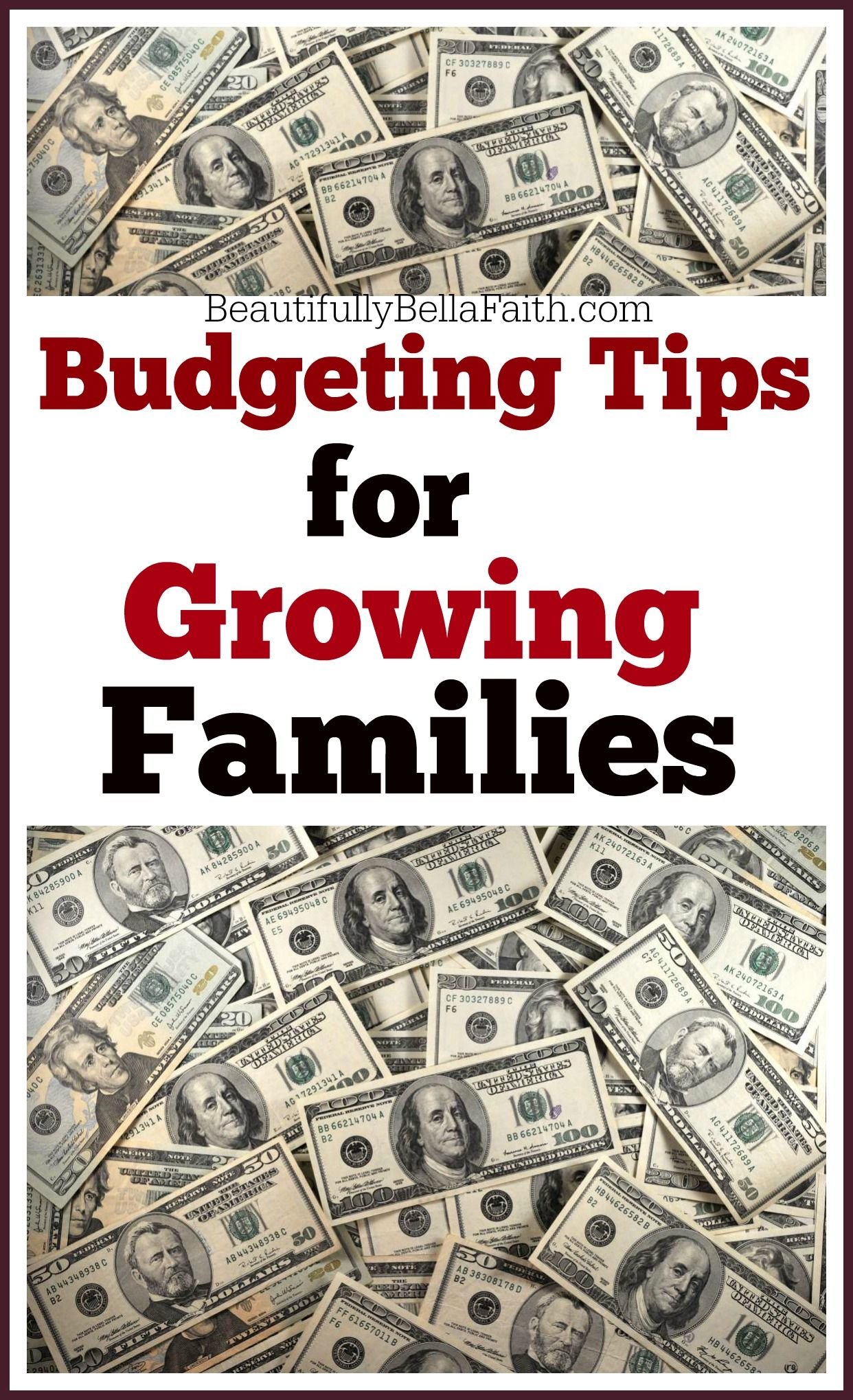 Budgeting Tips For Growing Families
