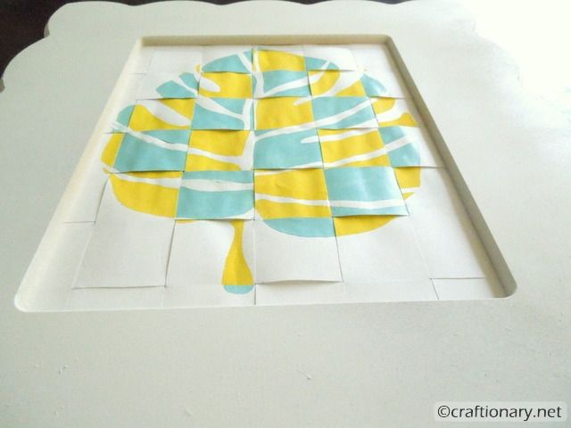 Woven stencil leaf with 3D effect (tutorial | 3d wall art, 3d and ...