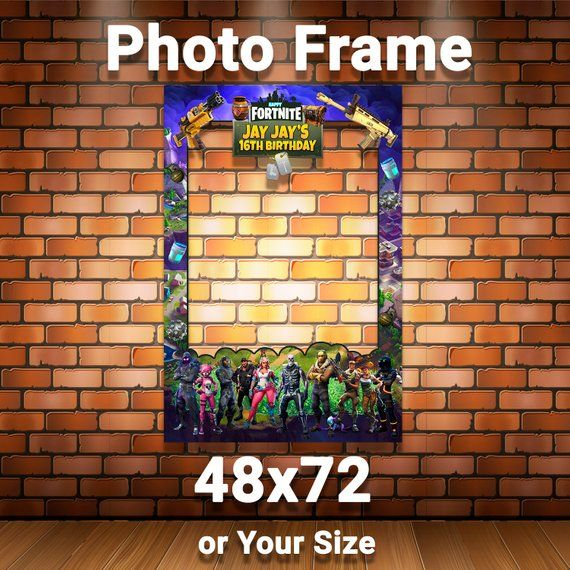 Fortnite Photo Booth Frame