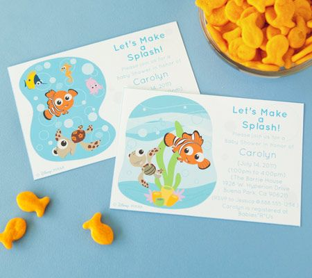 Finding Nemo Baby Shower Invitations Printable