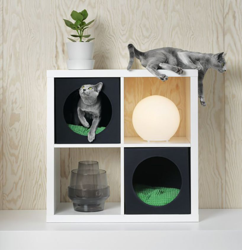 Ikea Introduces Lurvig A Collection Of Furniture And Accessories For Pets Pet Furniture Cat Bedroom Cat Room
