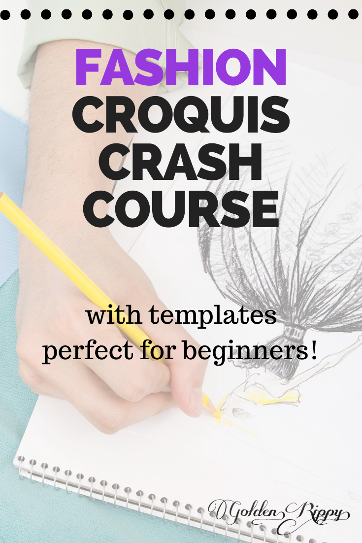 Not feeling very confident in your drawing skills? Struggling with finding templates and resources to get started? Then this crash course is for you! Perfect for beginners to get started today! #fashion #illustration #croquis #course #templates #drawing #sketch