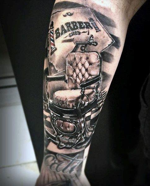 Mens Barber Tattoo Designs | tattoos | Pinterest | Tattoo ...