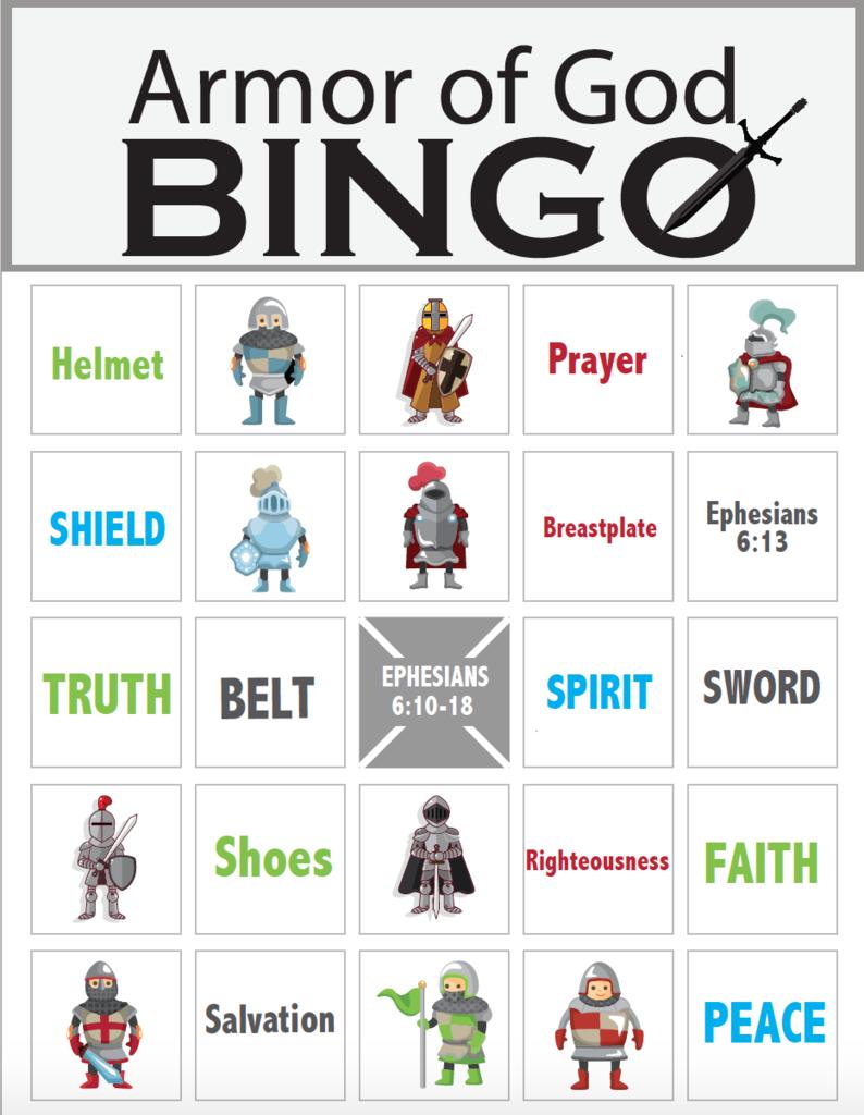 Armor of God Bingo | ARMOR OF GOD | Pinterest