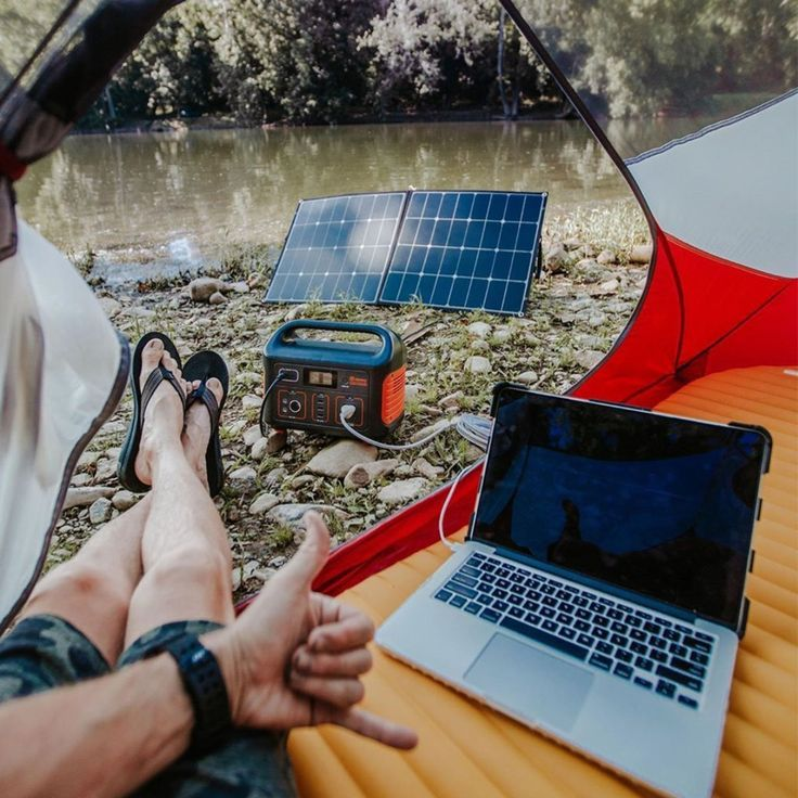 Photo of Jackery portable power station for camping