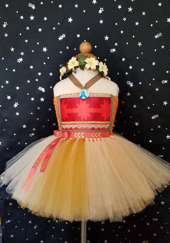 Girls Custom Moana Birthday Party Pageant Dress Outfit