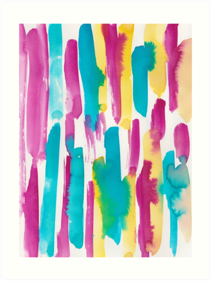 2 190224 Watercolour Pattern Abstract Art Print By