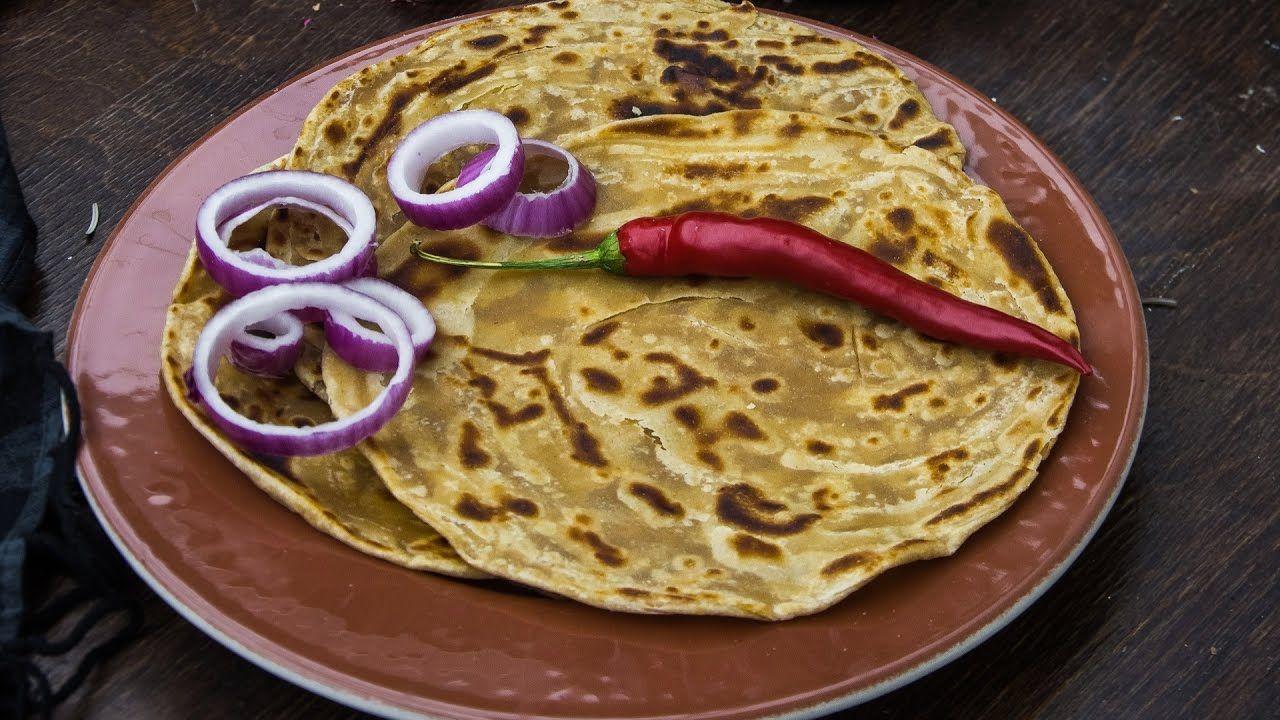 lachha paratha 3 ways how to make multi layered paratha लच छ पर ठ paratha food videos food on hebbar s kitchen recipes laccha paratha id=64801