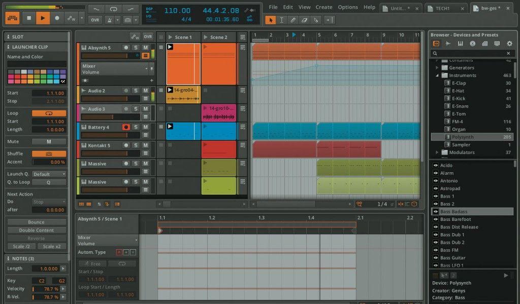 Der Software-Sequenzer Ableton Live hat sich auch für Keyboarder zu einem verlässlichen Partner entwickelt, und lange Zeit existierte keine vergleichbare Alternative auf dem Markt. Es war also nur eine Frage der Zeit, wann ein ernstzunehmendes Konkurrenzprodukt um die Ecke biegt. Seit Kurzem steht nun Bitwig Studio in den Läden, und obwohl es auf den ersten Blick sehr ähnlich aussieht, rücken die Bereiche Audio, MIDI, Sounddesign, Mix und Arrangement hier noch ein Stückchen enger zusammen…