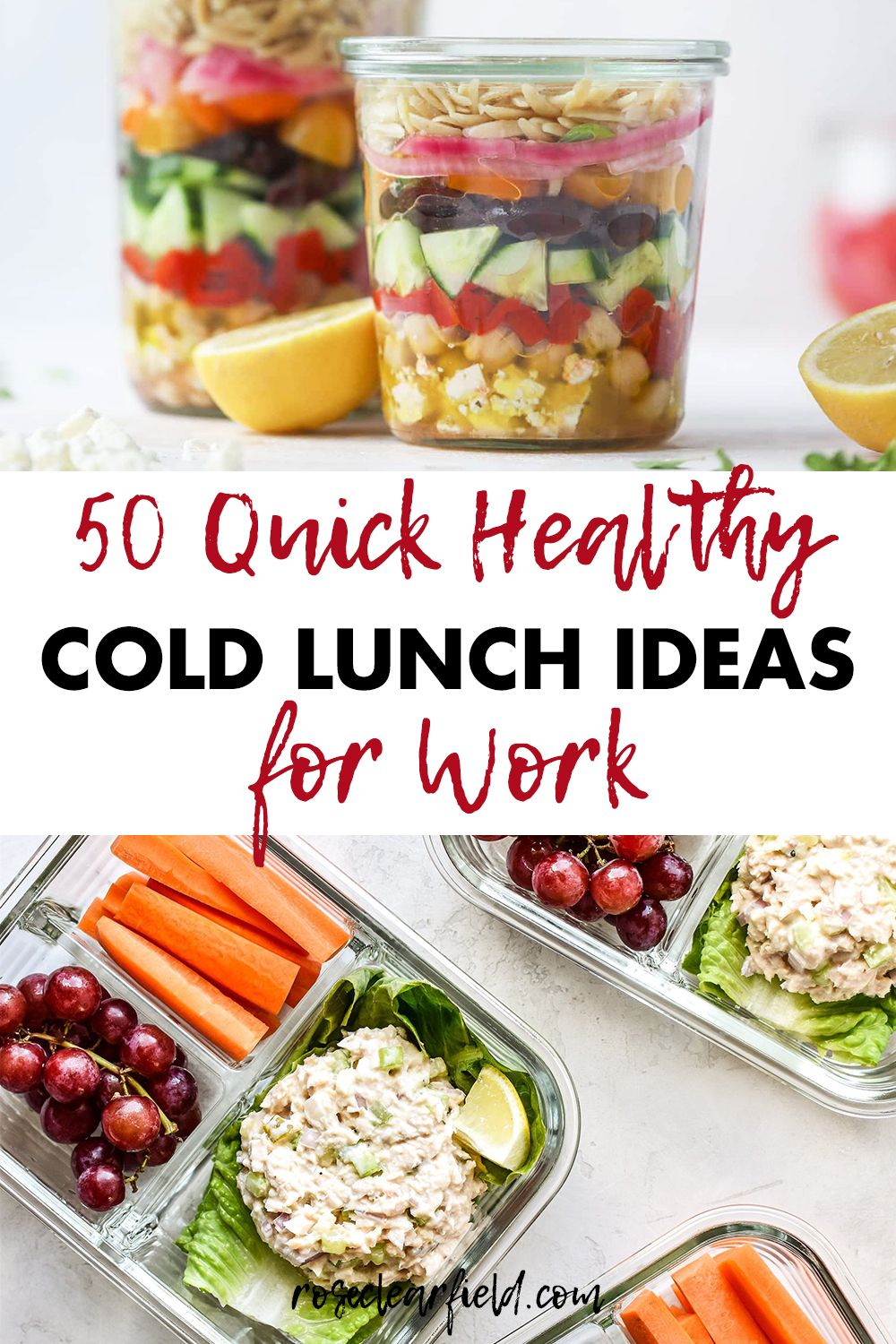 50 Quick Healthy Cold Lunch Ideas for Work in 2020 Cold