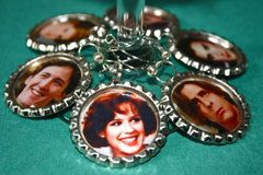 Cute wine charms from 1980s movies icons.