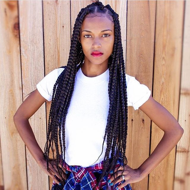 #Braidgang ❤️ cc: @kersti.pitre #iluvyourhair #ilyh #hairstyles #braids #protectivestyle #hairinspiration
