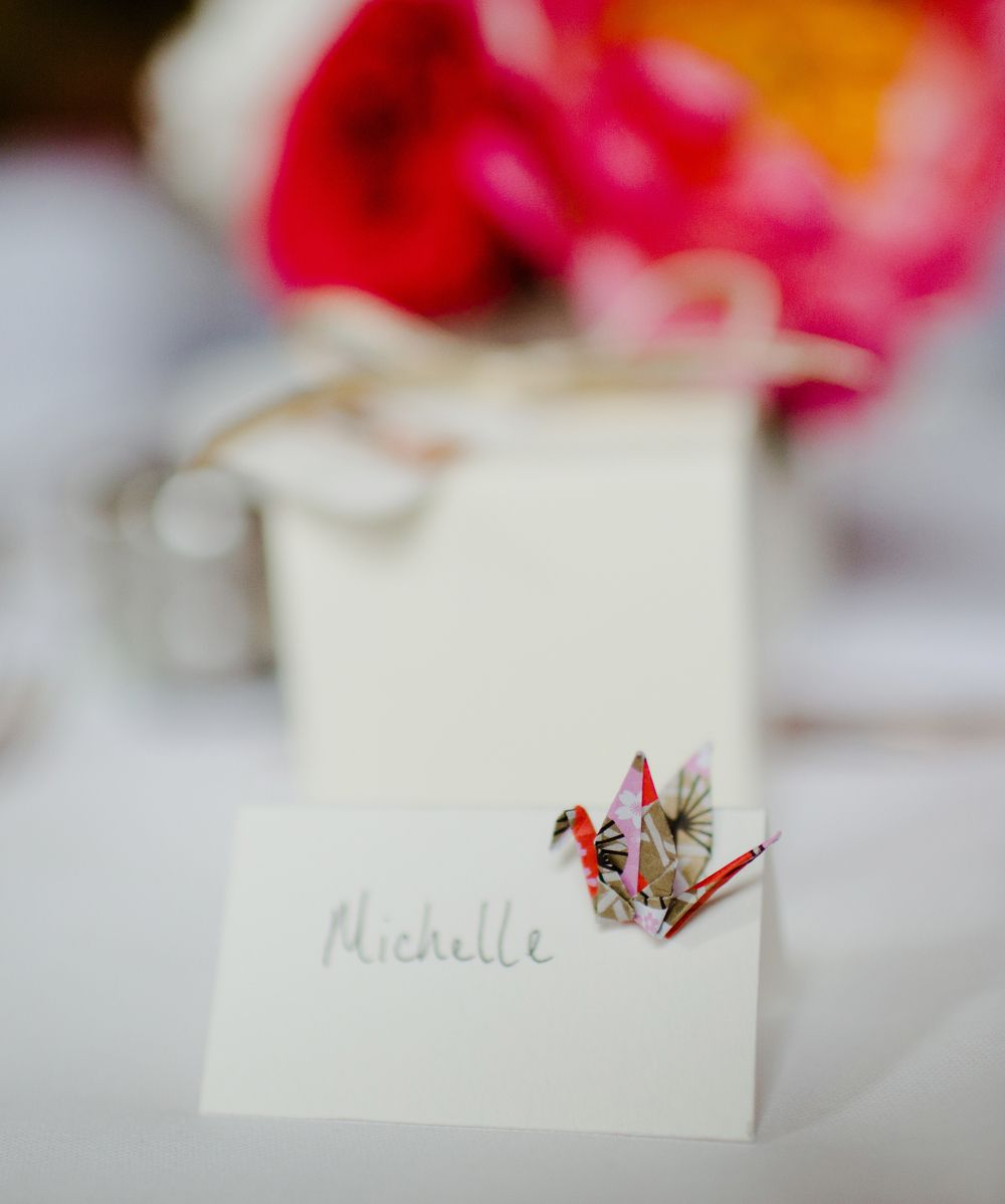 British, Japanese & Chinese Wedding | Origami Name Card designed and ...