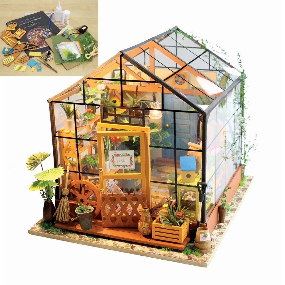 Amazing greenhouse model kit miniature greenhouse diy