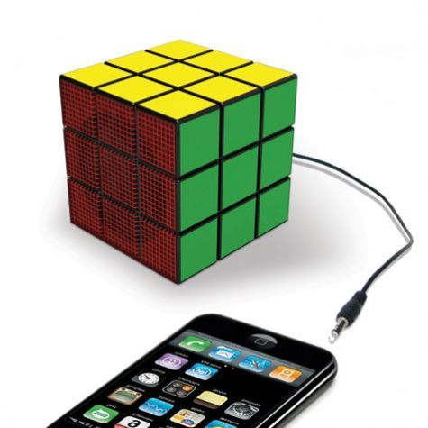 The official Rubik Speaker. Yes, it's a USB powered Rubik's Cube audio speaker. $39.95