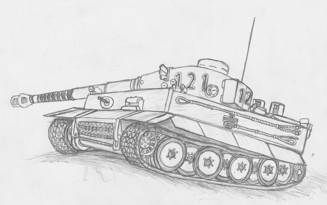 youtube how to draw a tank