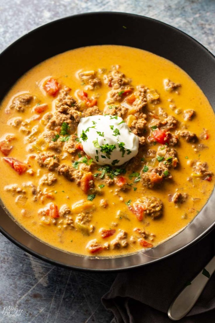 Low Carb Taco Soup Crockpot Recipe