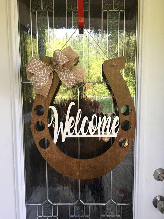 Attrayant Welcome Door Hanger Horseshoe Door Hanger Horseshoe Welcome