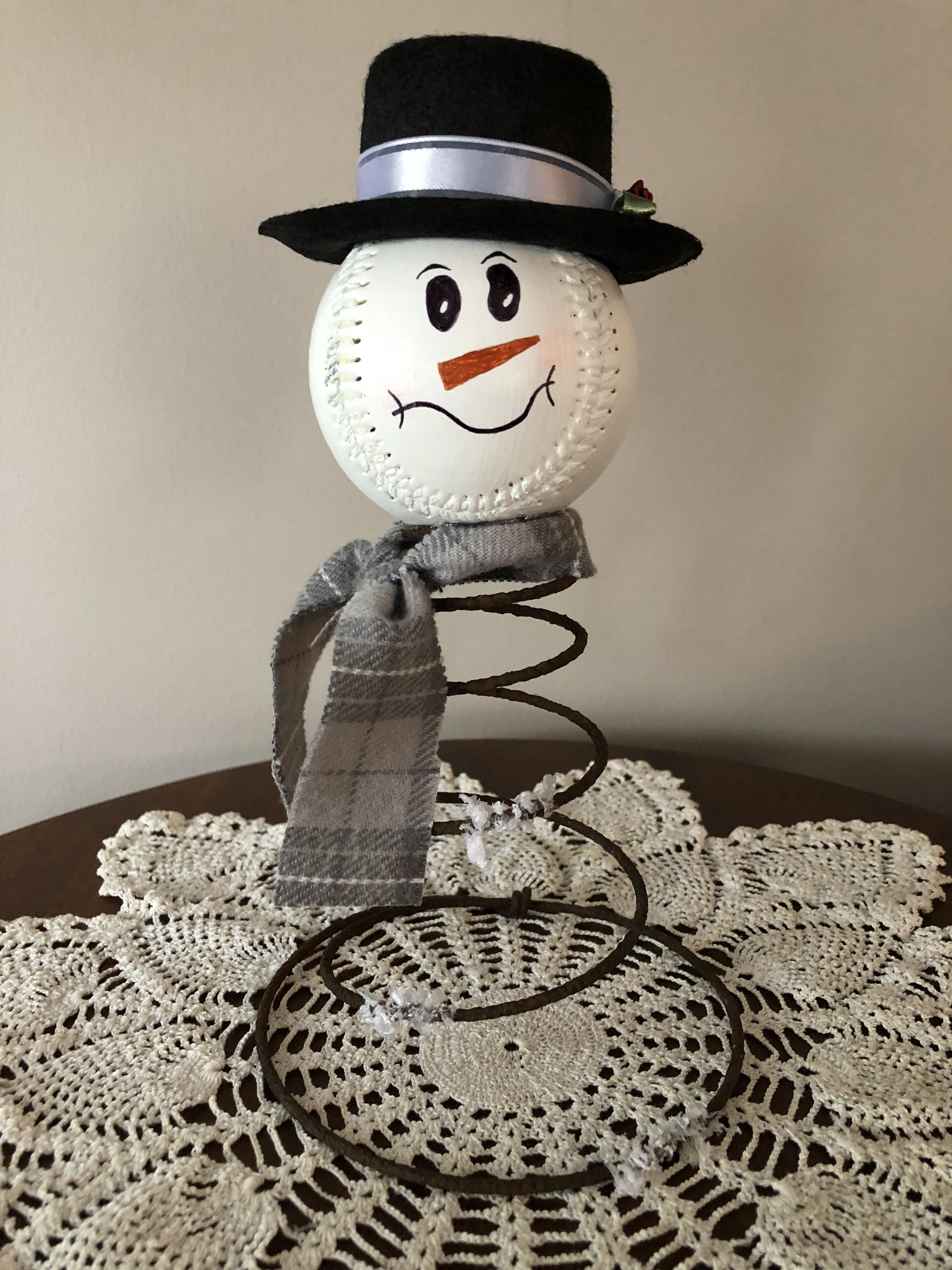 Bed spring snowman Holiday crafts snowman, Bed spring