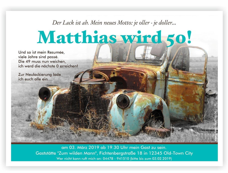 Einladungskarte Altes Auto Alte Autos Rostige Autos Und Coole