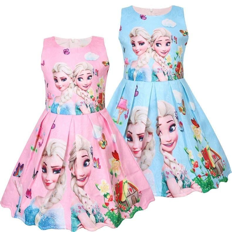 Frozen Elsa Princess Girls summer small children's vest