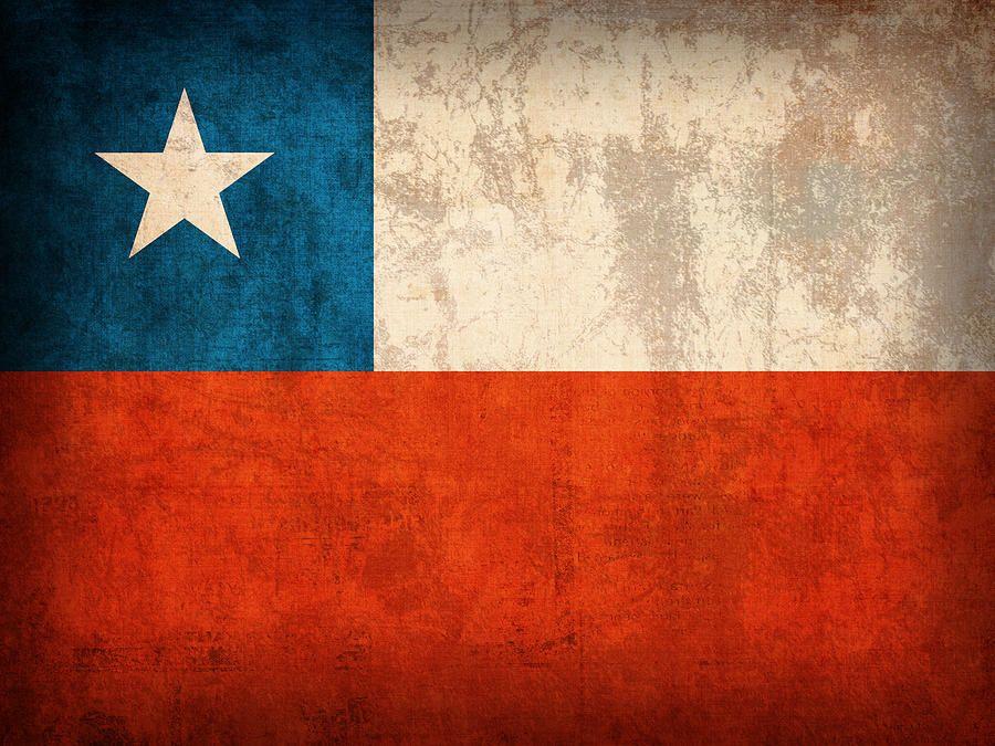 Chile Flag Vintage Distressed Finish By Design Turnpike Chile Flag Flag Art Flag