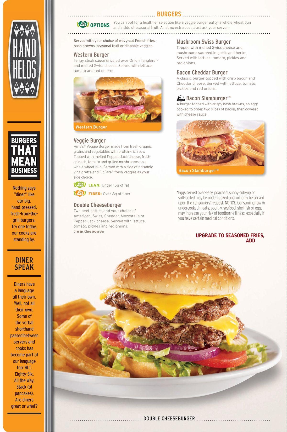Denny\'s burgers menu • dennys.com | food menu | Pinterest | Burger ...