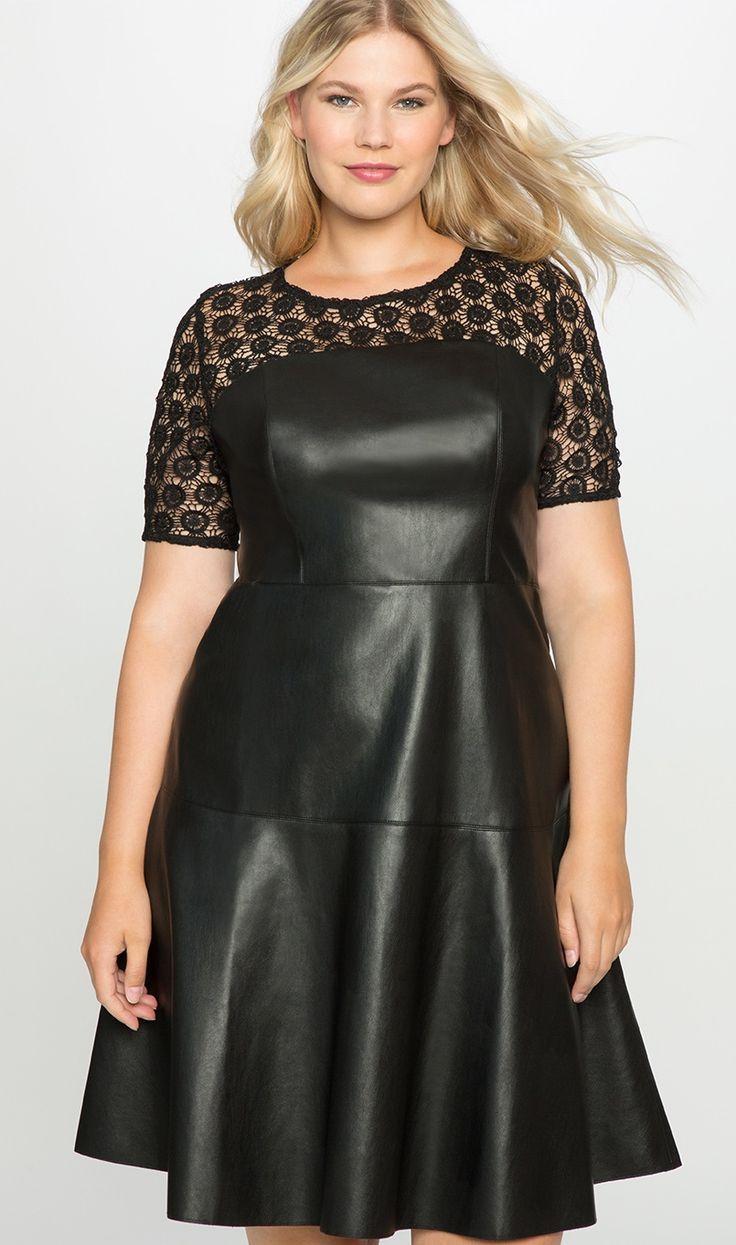 Plus Size Long Leather Dress