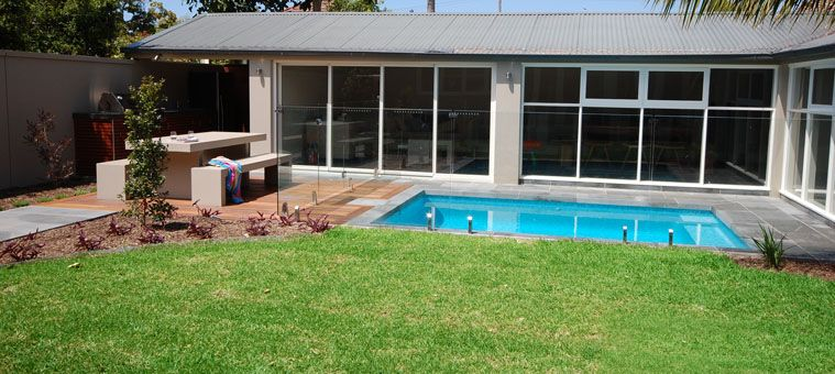 Backyard Renovations Plunge Pool Timber Decking Bbq Alfresco Designs Swimming In A Pool