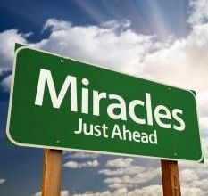 Miracles just ahead sign quote via Miracle on Kentucky Avenue at www.facebook.com/pages/Miracle-on-Kentucky-Avenue/294750553970314    Better day, Debt free, New job