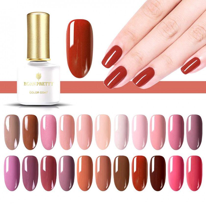 BORN PRETTY 6ml Nude Pink Caramel Series Gel Polish Soak Off UV Gel Nail  Varnish Manicure 39 Colors  GelNailColors 8a87d849bc01