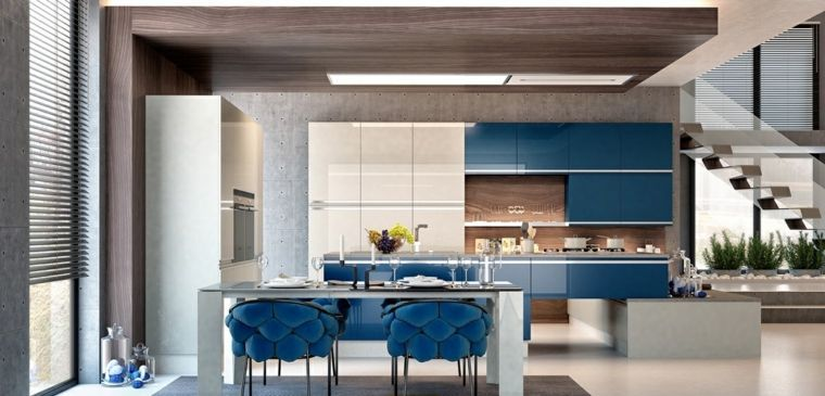 Moderne Küchenmodelle, die mit Geometrie spielen   Küche   Pinterest ...