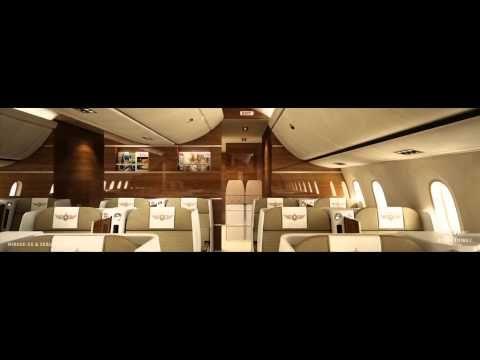 3D animation of Edése Doret Industrial Design's latest B787-9 interior