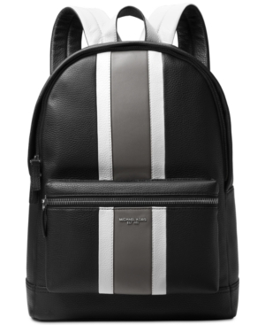 b3c805d77fa Michael Kors Men's Colorblocked Leather Backpack - Black | Products ...